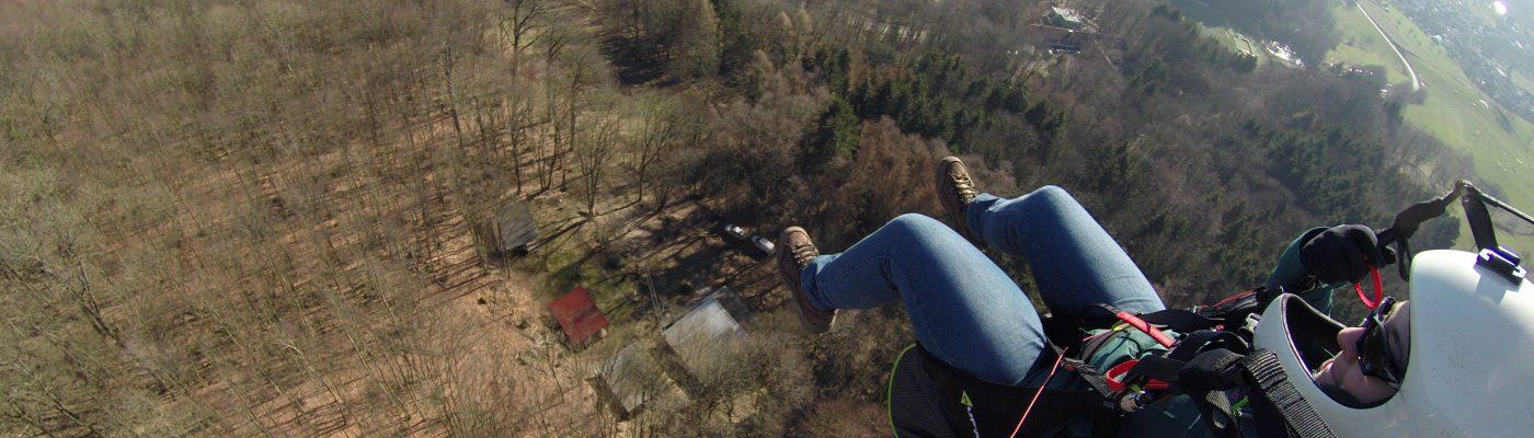 Gleitschirflug in Lindenfels