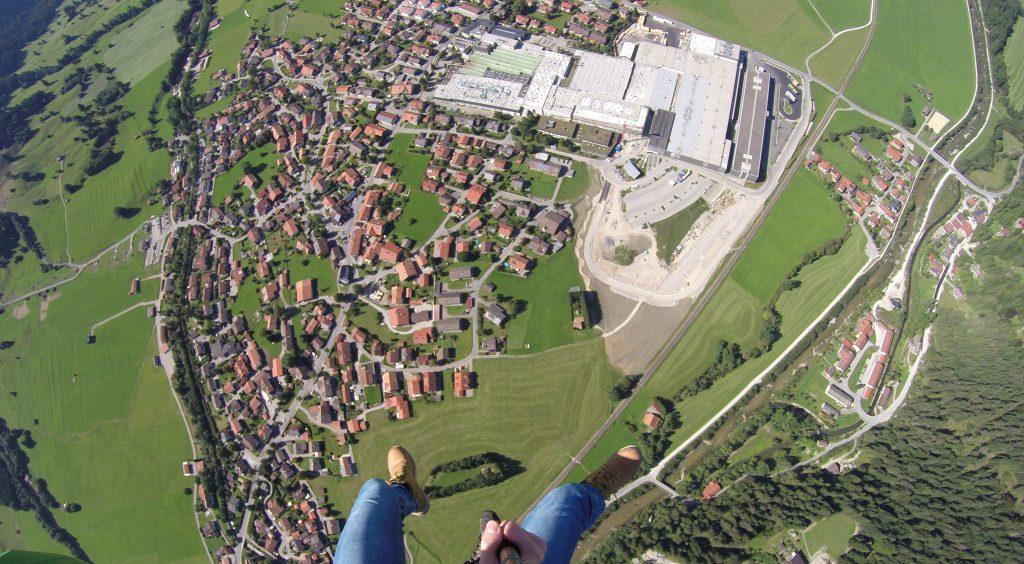 Tandemflüg über Pfronten im Allgäu Tandemflüge mit Pilot Eugen